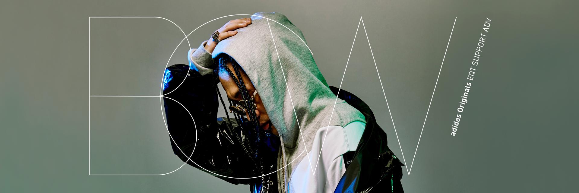 嘻哈+潮流最燥組合!B.C.W 上腳最新 adidas Originals EQT,凶狠示範「經典不敗色系穿搭」照樣電爆全場