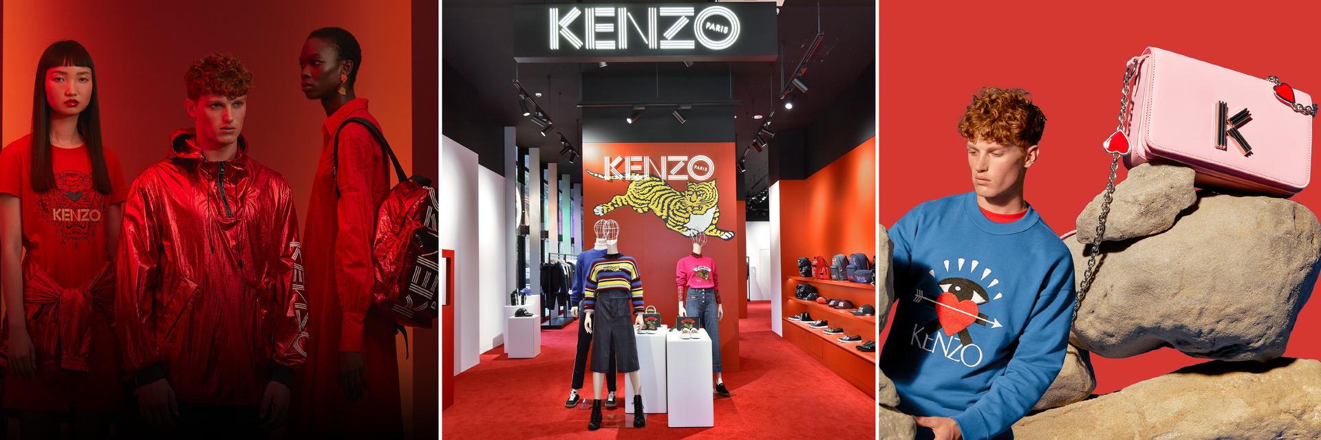 號召時尚迷!微風南山最「紅」在這裡, KENZO 新年、情人節限量系列霸氣釋出!